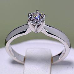 Inel din aur alb infrumusetat cu diamant model i017p6 Aur, Engagement Rings, Model, Jewelry, Enagement Rings, Wedding Rings, Jewlery, Bijoux, Schmuck