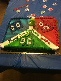 Pj masks birthday party cake from Giant