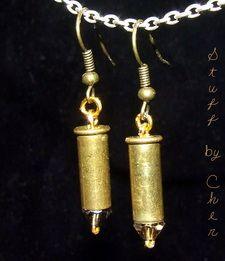 .22 Caliber Dangle Earrings    $20