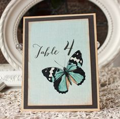 Butterfly table numbers by Sunshine and Ravioli, $2.50