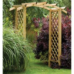 how to build a garden arch out of wood