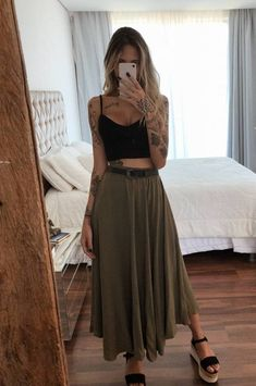 Fresh Outfits, Cute Casual Outfits, Stylish Outfits, Spring Outfits, Boho Mode, Mode Hippie, Hippie Style, Look Fashion, Girl Fashion