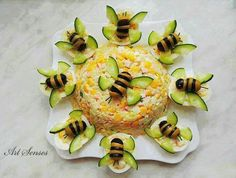 Food decoration - - food art - - Kochen - Home Snacks Für Party, Appetizers For Party, Appetizer Recipes, Easter Appetizers, Cute Food, Good Food, Yummy Food, Food Carving, Food Garnishes