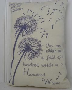 Dandelion Wishes Flower Quote