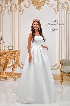 Zara wedding dress by Jasmine Empire wedding brand. Only Italian fabrics, natural pearls, SWAROVSKI stones Zara Wedding Dress, Wedding Dresses, Swarovski Stones, One Shoulder Wedding Dress, Jasmine, Empire, Fabric, Fashion, Bride Dresses