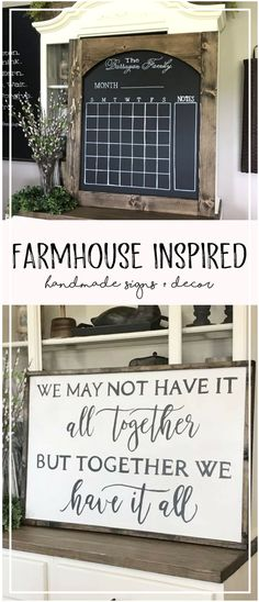 Favorite Farmhouse Finds {{ Willlow Hill Signs }} on etsy! Gorgeous pieces, sure to brighten up any room in the house. This #chalkboardcalendar is my faaaaavorite! :):) So beautifully done. #farmhousedecor #farmhouselivingroom #fixerupperideas #fixerupper #cottagedecor #shabbychicdecor #chalkboardart #chalkboarddiy #chalkboardideas