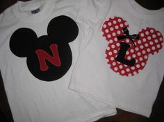 Shirts for the kids for that trip to Disneyland we'll take one day.