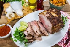 Tender and delicious Roasted Pork Shoulder by Author Natalie Morales! Tune in to Home & Family weekdays at on Hallmark Channel! Pork Dishes, Tasty Dishes, Pork Recipes, Healthy Recipes, Yummy Recipes, Pork Sandwich, Sandwiches, Pork Shoulder Roast, Cream Of Chicken Soup