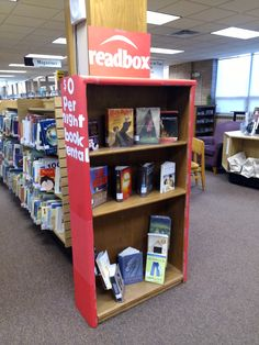 "New ""Read Box"" display at the Alexander Mitchell Public Library! Why spend money on a movie that leaves the best parts out? Trust us. The book is usually better."