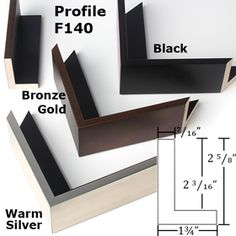 Profile F140 Canvas floater frame for deep canvas gallery wraps.