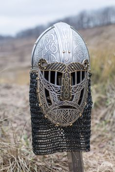 """SCA viking helmet """"The Evening Star"""" for sale. Available in: stainless :: by medieval store ArmStreet Steampunk Armor, Viking Armor, Viking Helmet, Viking Runes, Viking Camp, Viking Books, Los Primates, Womens Motorcycle Helmets, Motorcycle Girls"""