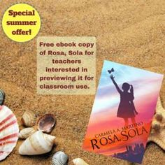 Special summer offer: free book for teachers interested in previewing Rosa, Sola for classroom use