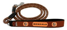 Cincinnati Bengals Football Leather Leash - L