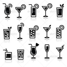 Silhouette of wine glass with splash vector image on