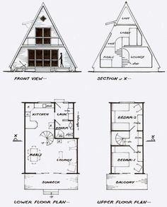 A-frame cottage plans for a guest house/ temp house - #cottage #frame #guest #house #plans - A-frame