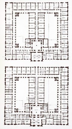 Plans of the War Offices, London Hotel Design Architecture, Hospital Architecture, Architecture Concept Drawings, Education Architecture, Architecture People, School Architecture, Ancient Architecture, Building Design Plan, School Building Design