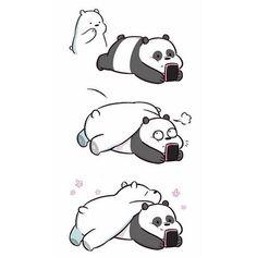 Tag someone you wanna cuddle with 😍💗 Ice Bear We Bare Bears, 3 Bears, Cute Bears, We Bare Bears Wallpapers, Panda Wallpapers, Cute Cartoon Wallpapers, Bear Wallpaper, Wallpaper Iphone Cute, Disney Wallpaper