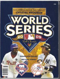 2009 MLB Official World Series Program- NY Yankees vs Philadelphia Phillies  by 12thManProductions on Etsy 73e7f8ebc1