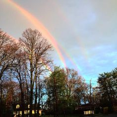 Lucky Long Island commuter Amanda Curtis spotted four rainbows Tuesday morning in Glen Cove, N.Y.