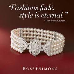 """""""Fashions fade, style is eternal."""" –Yves Saint Laurent >>Click on the quote to discover more Vintage-Style jewelry at Ross-Simons."""