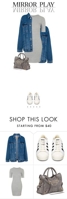 """Sem título #63"" by euluana ❤ liked on Polyvore featuring Pull&Bear, adidas, Topshop and Balenciaga"