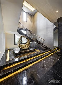 Dream House Interior, Interior Stairs, Home Interior Design, Interior Architecture, Marble Staircase, Modern Staircase, Railing Design, Staircase Design, Floor Design