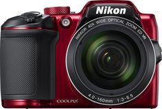 Nikon - COOLPIX B500 16.0-Megapixel Digital Camera - Red