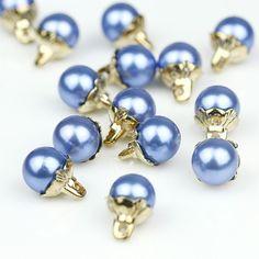 5pcs 1.2cm Sea Blue Prop Ivory Pearl