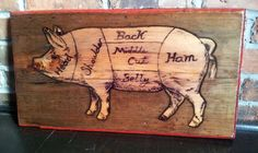 Vintage inspired Pig sign by RadChicago on Etsy, $55.00