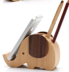 Wood mobile phone stand pen container iphone stand   woodenlife - Woodworking on ArtFire
