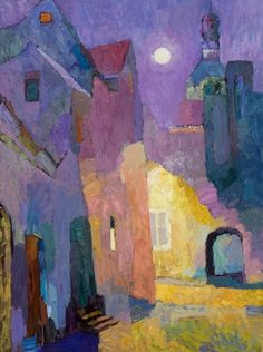 Larisa Aukon, Poet's Place by Larisa Aukon Oil ~ 40 x 30