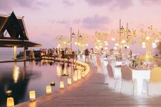 Wedding Planner Thailand - Get married at the finest destination wedding venues in Thailand. Indian Wedding Planners offers affordable beach wedding packages for your romantic destination wedding in Thailand. Cheap Wedding Reception Venues, Pool Wedding, Phuket Wedding, Thailand Wedding, Dream Wedding, Lakeside Reception, Reception Halls, Ibiza Wedding, Reception Ideas