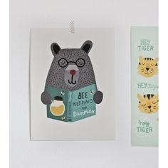 Poster ours BE KEEPING Michelle Carlslund - My Little Bazar décoration pour chambre enfant