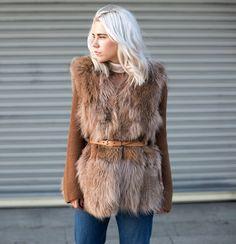 belted fur. brills. Courtney in LA. #AlwaysJudging