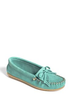 I want this pretty Minnetonka 'Kilty' Suede Moccasin | Nordstrom