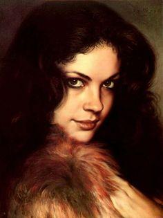 """Red Fox"" - Giorgio Salmoiraghi {contemporary realism art beautiful female head woman face portrait painting} inthenameofart.deviantart.com"