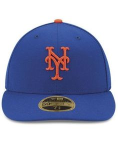 New Era New York Mets Authentic Collection Low Profile 9-11 Patch 59FIFTY Fitted Cap - Blue 7