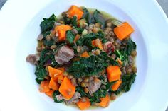 Fresh Local and Best: Lentil Stew with Smoked Turkey and Sweet Potatoes