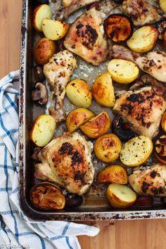 Rosemary Lemon Chicken and Potatoes #onepotdinner