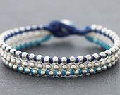 Nautical Silver Beaded Bracelet
