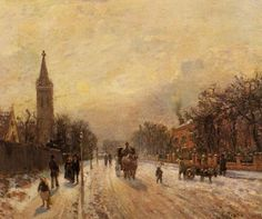 Canvas painting Camille Pissarro artwork All Saints Church Upper Norwood Hand painted High quality Claude Monet, Georges Seurat, Camille Pissarro Paintings, Pissaro Paintings, Maurice Utrillo, Gustave Courbet, Mary Cassatt, Impressionist Artists, Post Impressionism