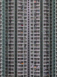 Photographer Michael Wolf's incredible shots capture the extreme scale of skyscrapers in one of the world's most densely populated places; Hong Kong