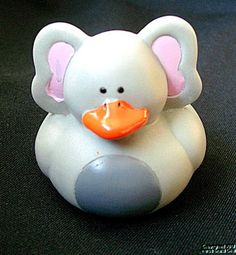 "Rubber Duck ELEPHANT Gray Wild Animals Duckie NEW 2"" Ducky Cute"