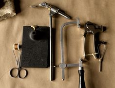 Beautiful photos of tools and work of Shawn Davis, a fly tier