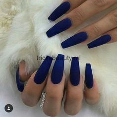 Take a look at our Coffin Acrylic Nail Ideas with different colors; Trendy Coffi & dye The post Take a look at our Coffin Acrylic Nail Ideas with different colors; Trendy Coffi appeared first on Trendy. Blue Coffin Nails, Blue Acrylic Nails, Acrylic Nails For Fall, Blue Matte Nails, Dark Blue Nails, Glitter Nails, Acrylic Summer Nails Coffin, Colourful Acrylic Nails, Acrylic Nail Designs Coffin