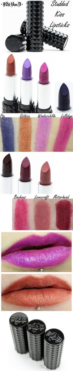 Kat Von D Studded Kiss Lipsticks Review-must buy love craft shade!
