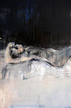 nearlya:    Regina Nieke  Untitled (Black Painting 2), 2012