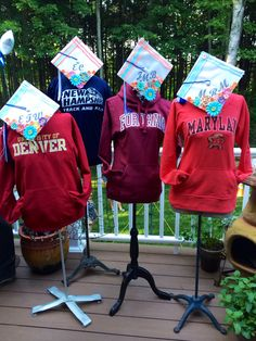 Such a great grad party idea! Super cool, if we can find a mannequin, you know... since it's F.I.T. so fitting