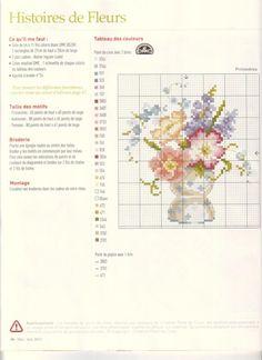 flori in suport pt ou - schita de cusut