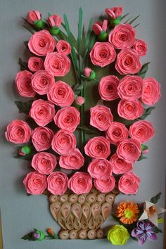 Quilled roses                                                                                                                                                                                 More